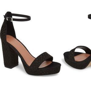 Topshop Sloane Woven Platform Sandal